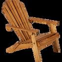 Fauteuil de jardin relax en acacia-BERGONCE