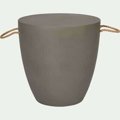 Table d'appoint en composite gris 40x40cm-ALERIO