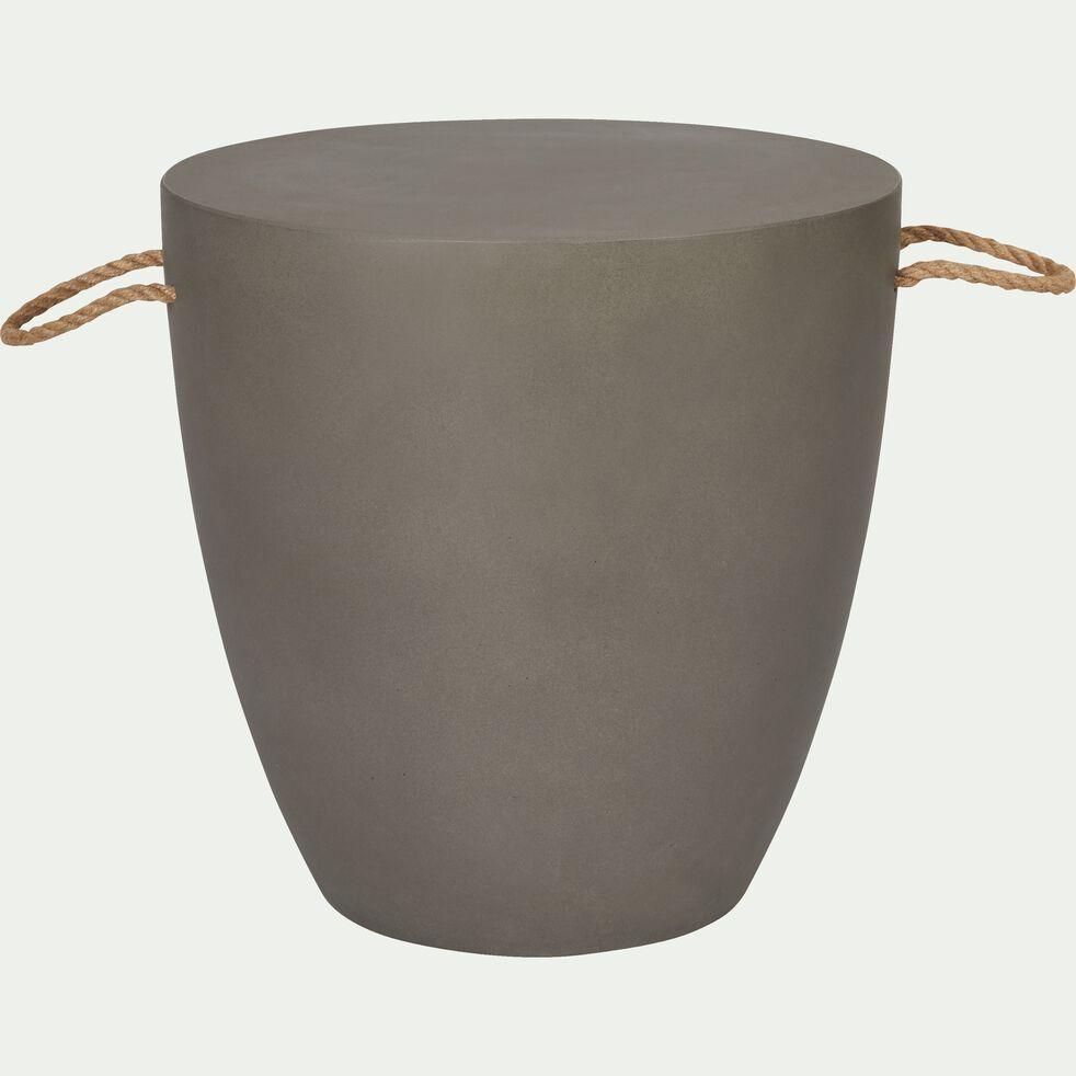 Table d'appoint en composite gris 40x40cm-ALERIO