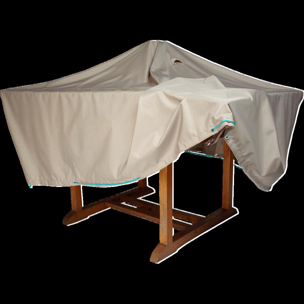 Protection taupe pour table de jardin (L170xP110xH60cm) - HOUSSE ...