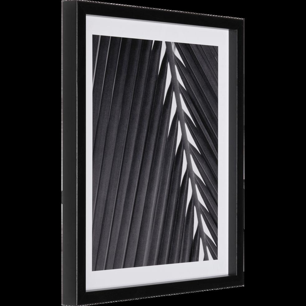 Image encadrée noir et blanc 40x32cm-BLE