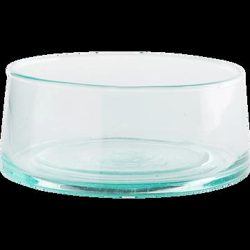 Saladier transparent en verre recyclé D16cm-BELDI