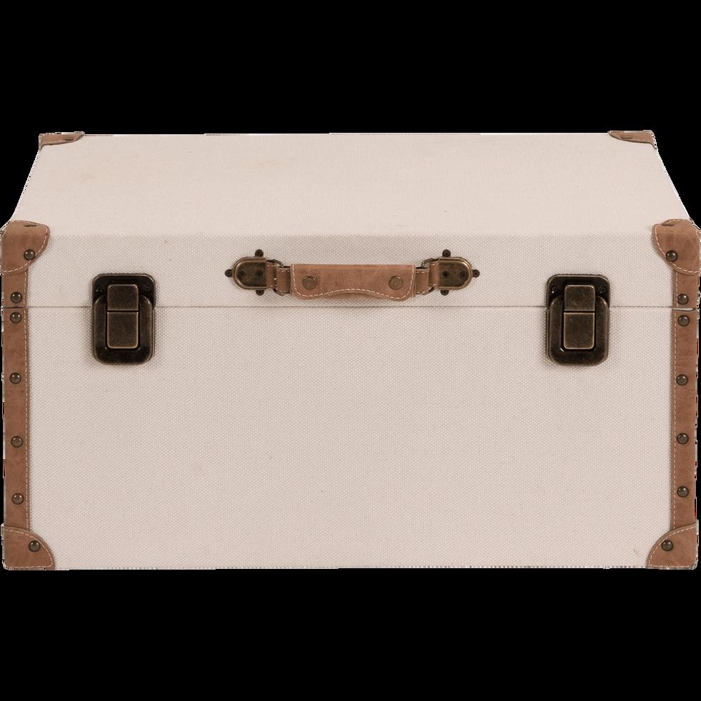 Malle de rangement beige L60xl38cm-CARLONE