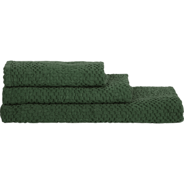 Linge de toilette clematis vert cèdre-CLEMATIS