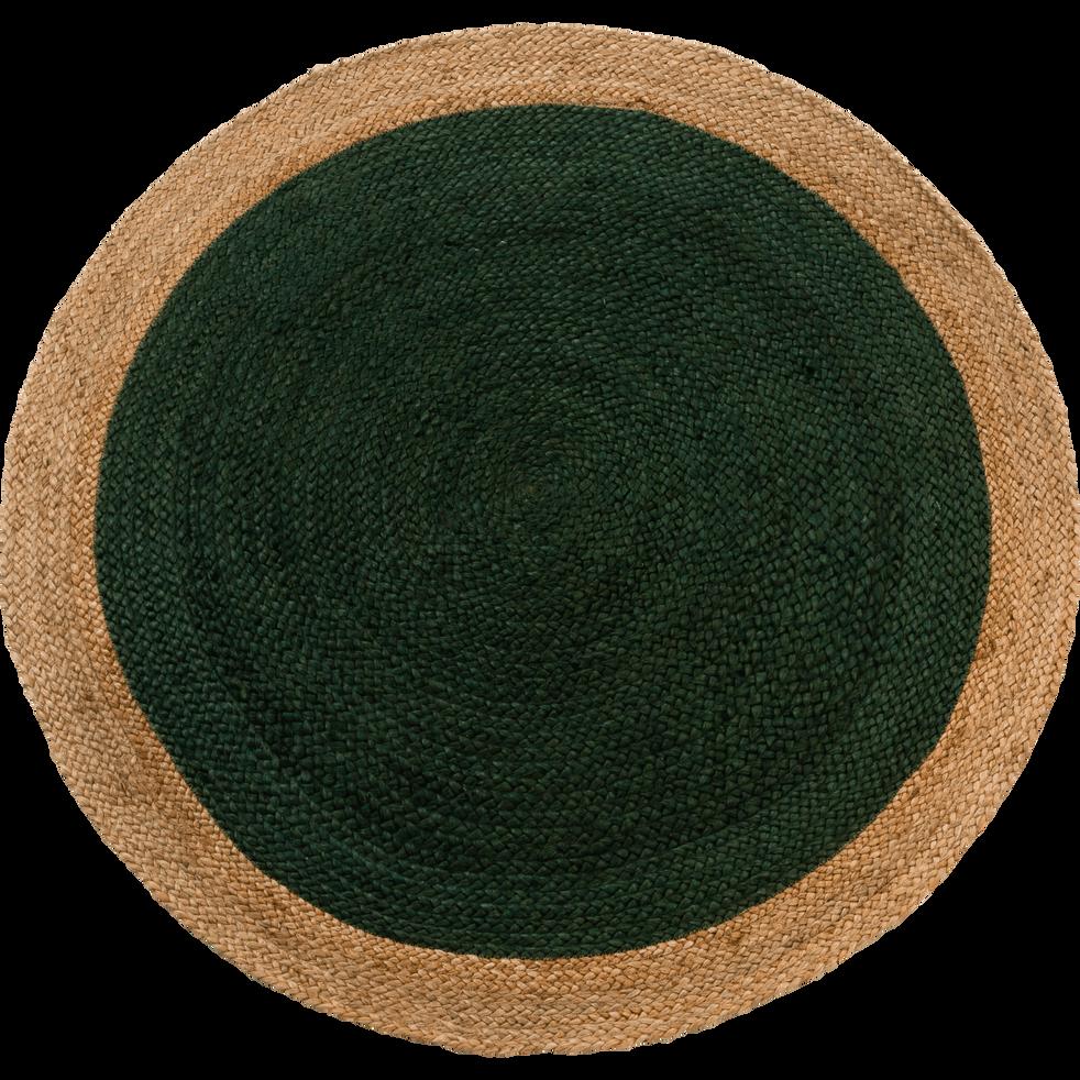 Tapis rond vert cèdre en jute - Plusieurs tailles-NAÏA