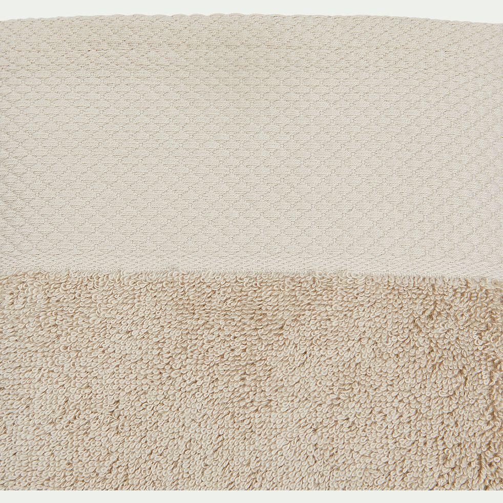 Serviette invité en coton peigné - beige alpilles 30x50cm-AZUR