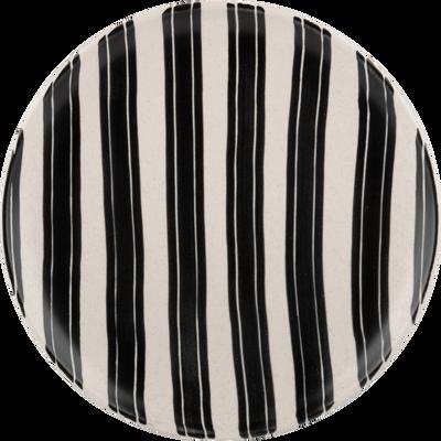 Assiette plate en faïence blanche D27cm-TAZA