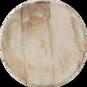 Plateau à bougies en bois D22.5cm-RONDY