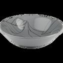 Assiette creuse en grès gris restanque décoré D19cm-LAURIER