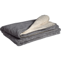 Plaid doux imitation fourrure gris restanque (plusieurs tailles)-MARIUS