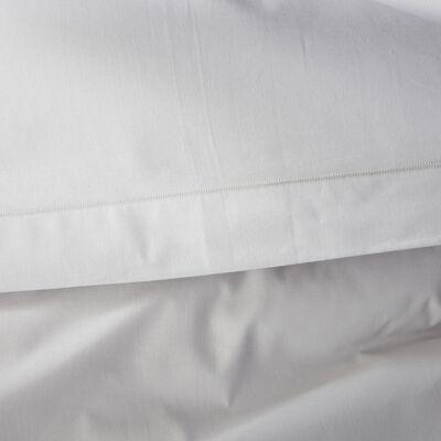 Linge de lit en coton gris borie-CALANQUES