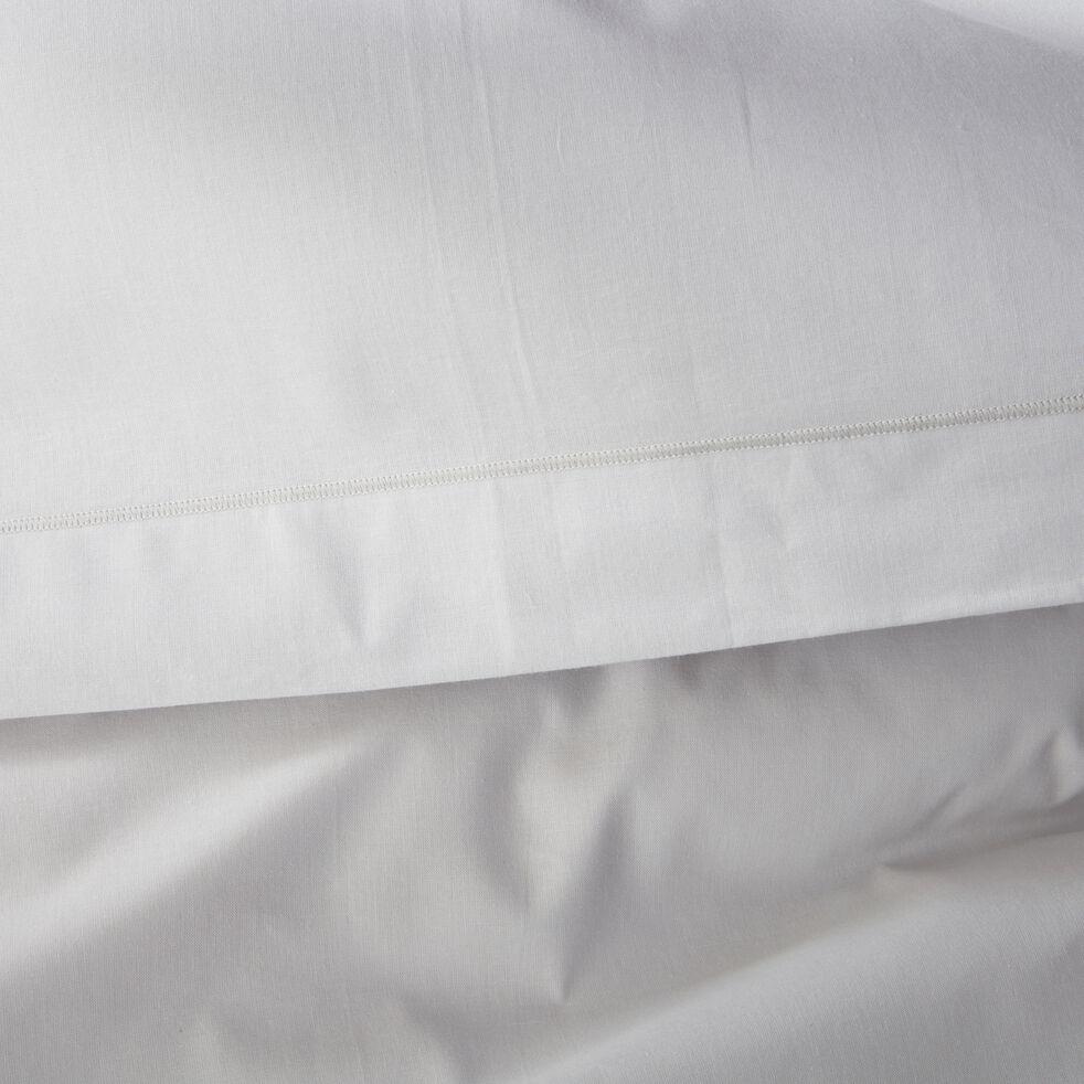 Housse de couette unie en coton gris borie-CALANQUES