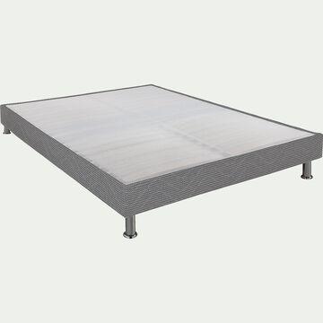 Sommier tapissier Alinéa 15 cm Gris - 140x200 cm-DECOCONFORT