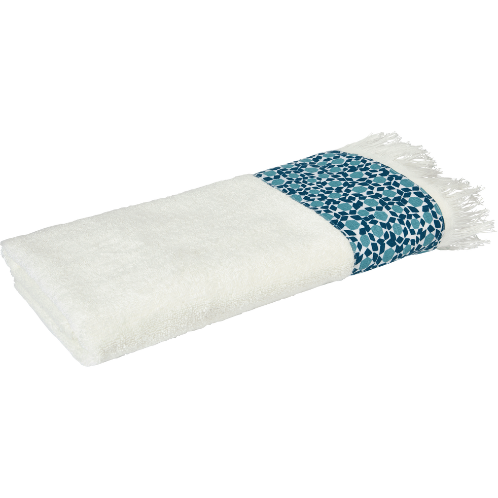 serviette de toilette 50x100 cm blanc capelan-ZELLIA