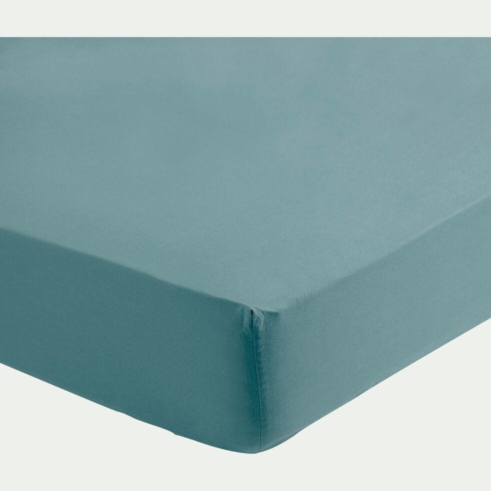 Drap housse en coton - vert 90x140cm-VITAMINE