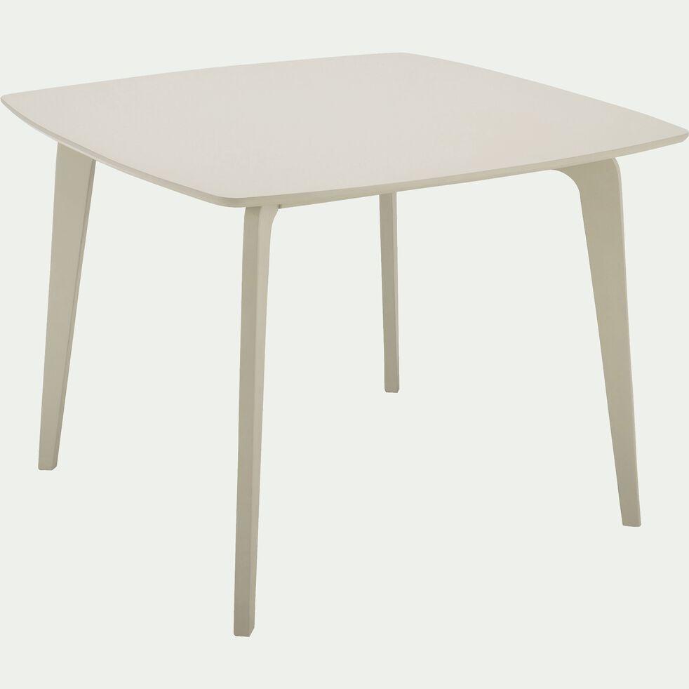 Table de repas carrée beige roucas  - 4 places-SUZIE