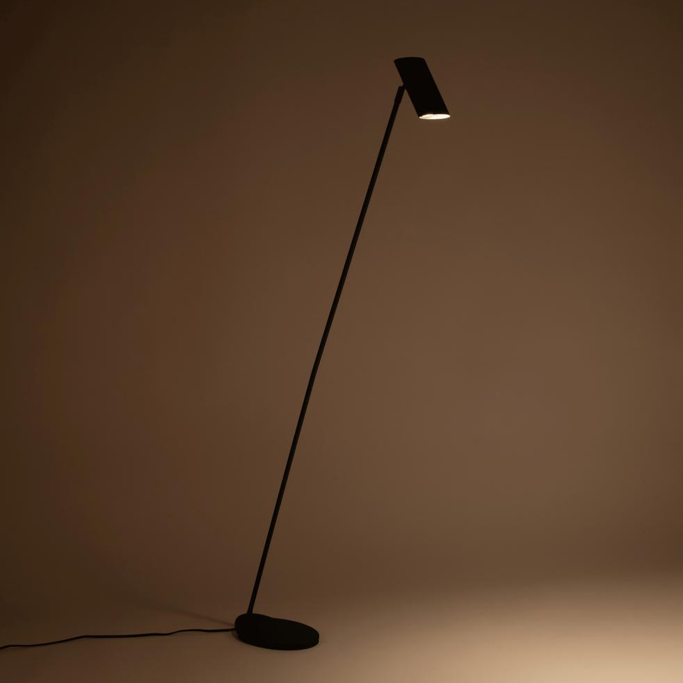 Lampadaire en métal noir H137cm-HESTER
