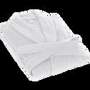 Peignoir en coton M blanc capelan-AZUR