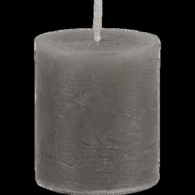 Bougie votive coloris gris restanque H4,5cm-BEJAIA