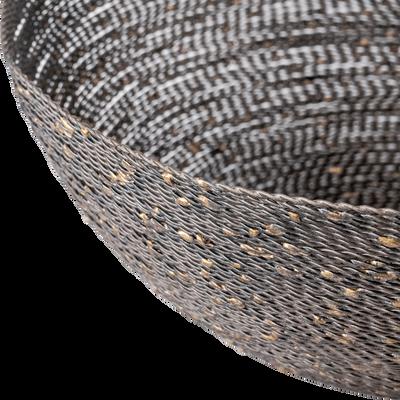Corbeille en fer marron effet rotin-PIVOINE