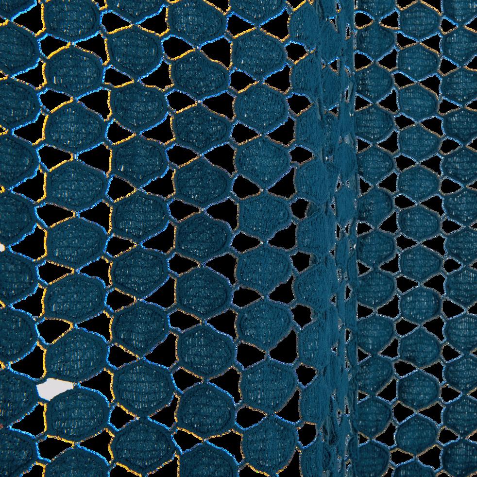 Rideau en mailles de coton Bleu figuerolles 125x250 cm-SAMARA