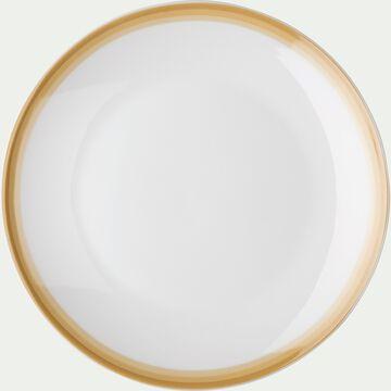 Assiette à dessert en porcelaine motif dégradé beige nèfle D19cm-VIC