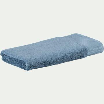 Serviette de toilette en coton peigné - bleu autan 50x100cm-Azur
