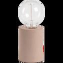 Lampe à poser en béton rose H12,5xD9cm-PRAO