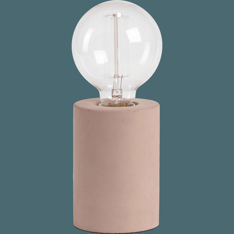Beau Lampe à Poser En Béton Rose H12,5xD9cm PRAO