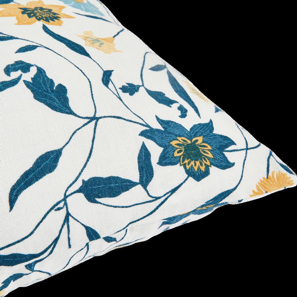 Coussin en lin et coton à motifs écru 45x45cm-ASMARA