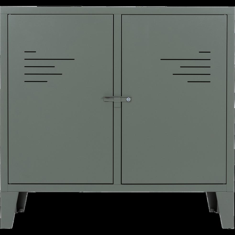 Commode 2 portes en acier Vert cèdre-LOFTER