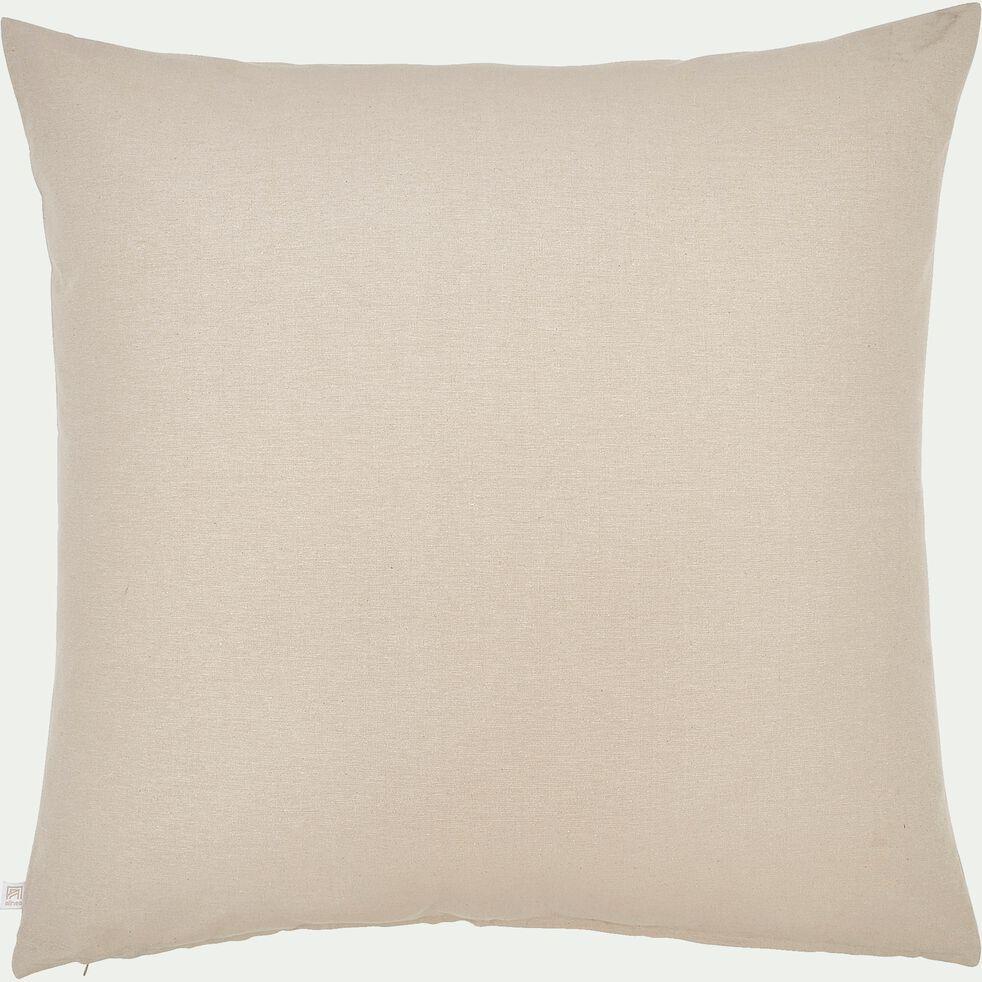 Coussin de sol en coton - beige alpilles 70x70cm-CALANQUES