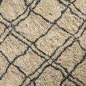 Tapis inspiration berbère - écru et noir 140x200cm-BERBERE