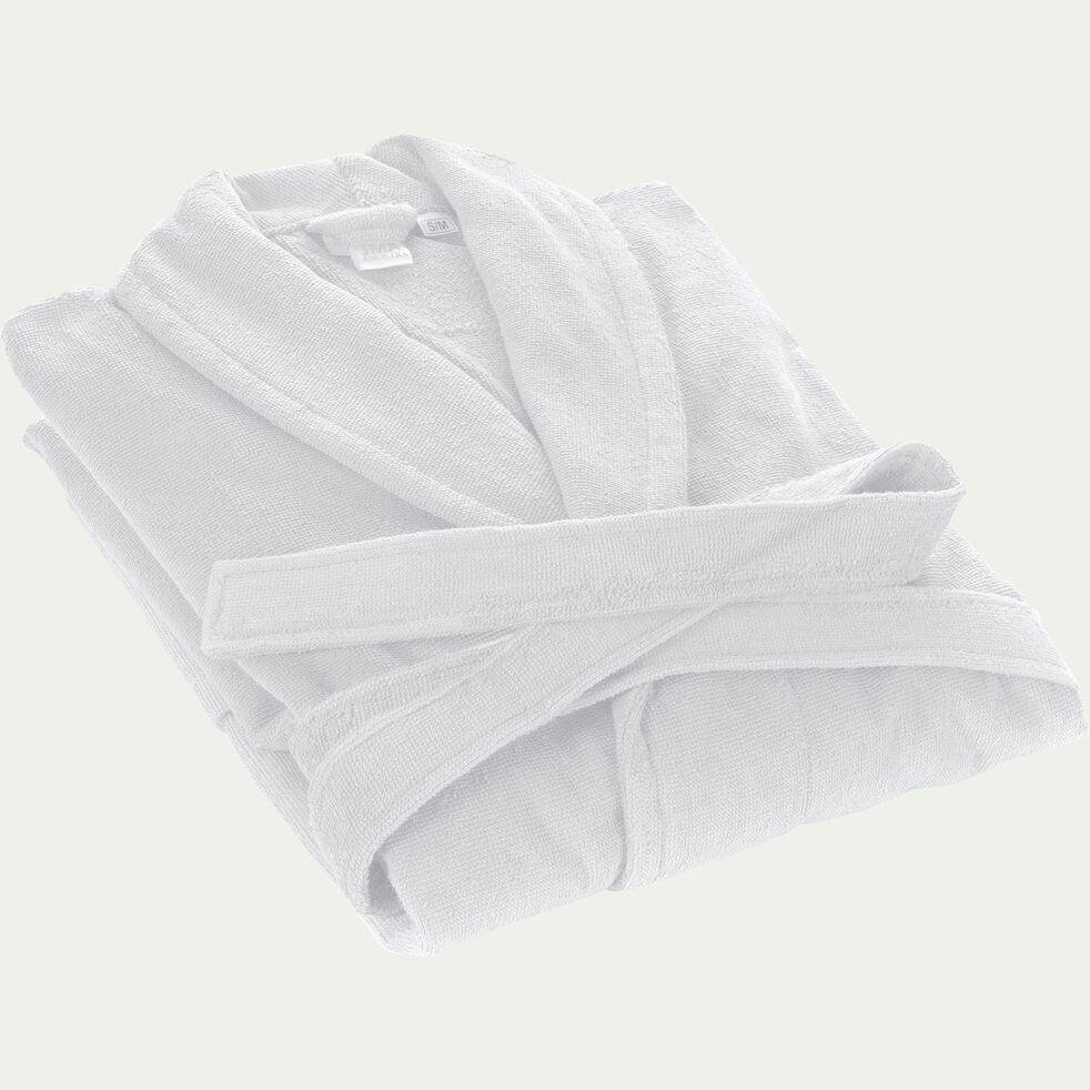 Peignoir en coton et polyester - blanc capelan L/XL-AZUR