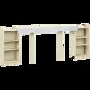Tête de lit rangeante cerisier blanchi pour lit - L160 cm-BROOKLYN