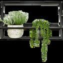 Porte-plante en métal noir L54xH34cm-IZA