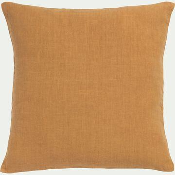 Coussin en lin lavé - beige nèfle 45x45cm-VENCE