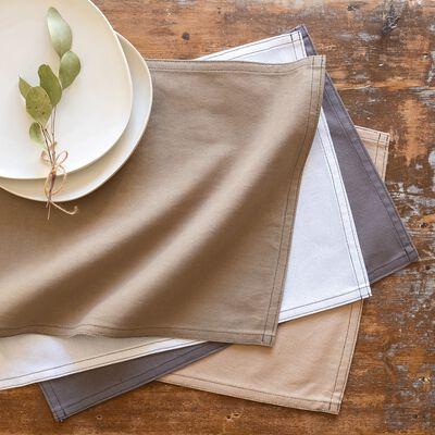 Set de table en coton gris borie 30x45cm-VENASQUE