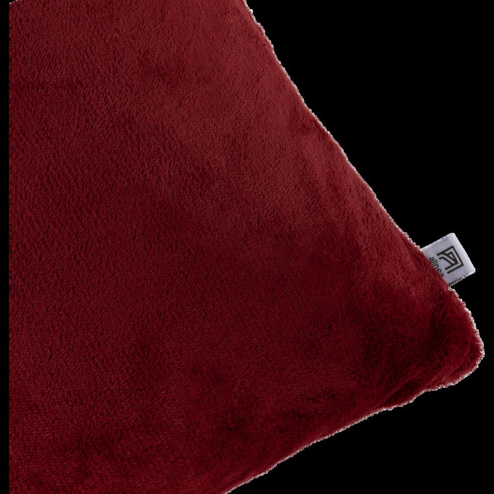 housse de coussin effet doux rouge sumac 40x60cm robin. Black Bedroom Furniture Sets. Home Design Ideas