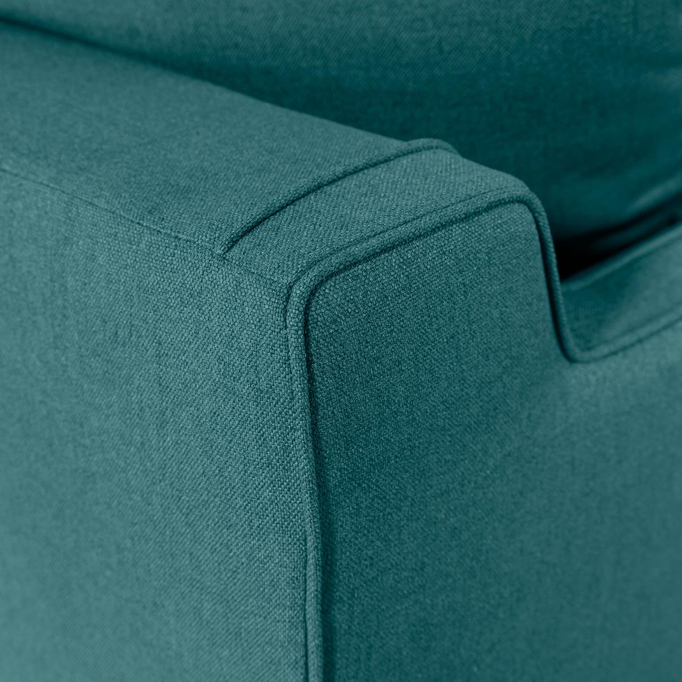 Canapé 3 places convertible en tissu bleu niolon-LENITA