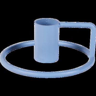 Bougeoir en métal bleu H4cm-SPRINT