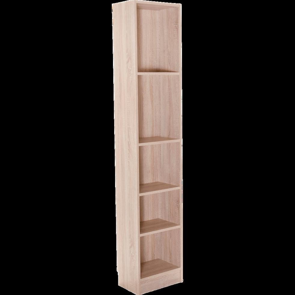 grande biblioth que 5 tablettes coloris ch ne clair l40cm. Black Bedroom Furniture Sets. Home Design Ideas