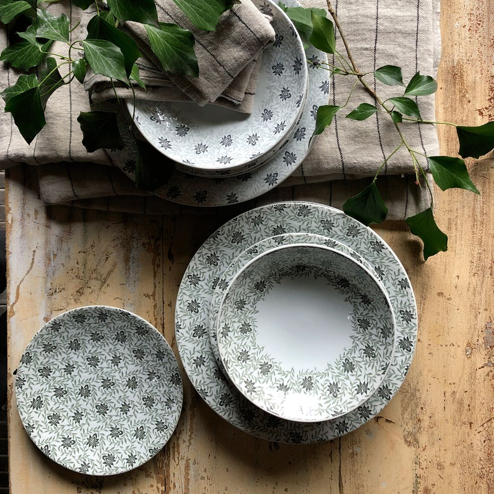 Gamme de vaisselle en grès décoré-JASMIN