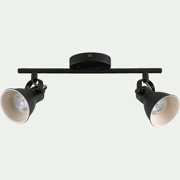 Barre de 2 spots LED L37xH6,50cm - noir-SERAS1