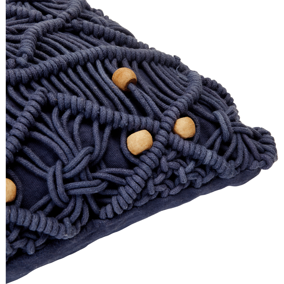 housse de coussin en coton bleu myrthe 45x45 cm mounia. Black Bedroom Furniture Sets. Home Design Ideas