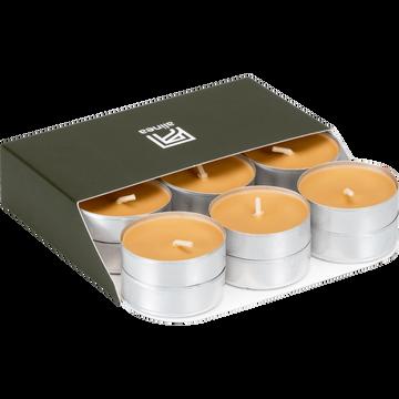 18 bougies chauffe-plats beige nèfle-HALBA