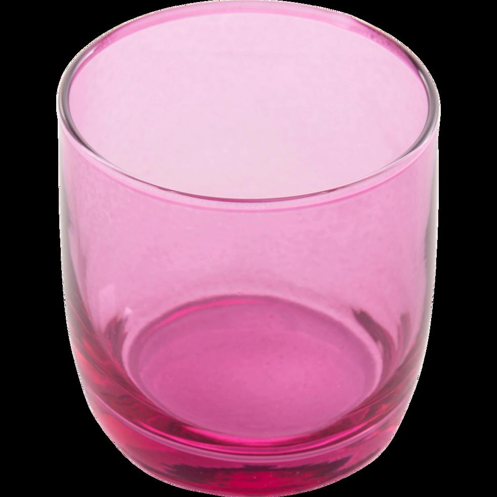 Verre à eau rose 30cl-BELLI