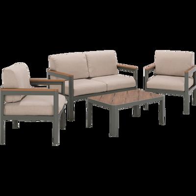 Salon de jardin - mobilier de jardin en bois, aluminium, acier   alinea