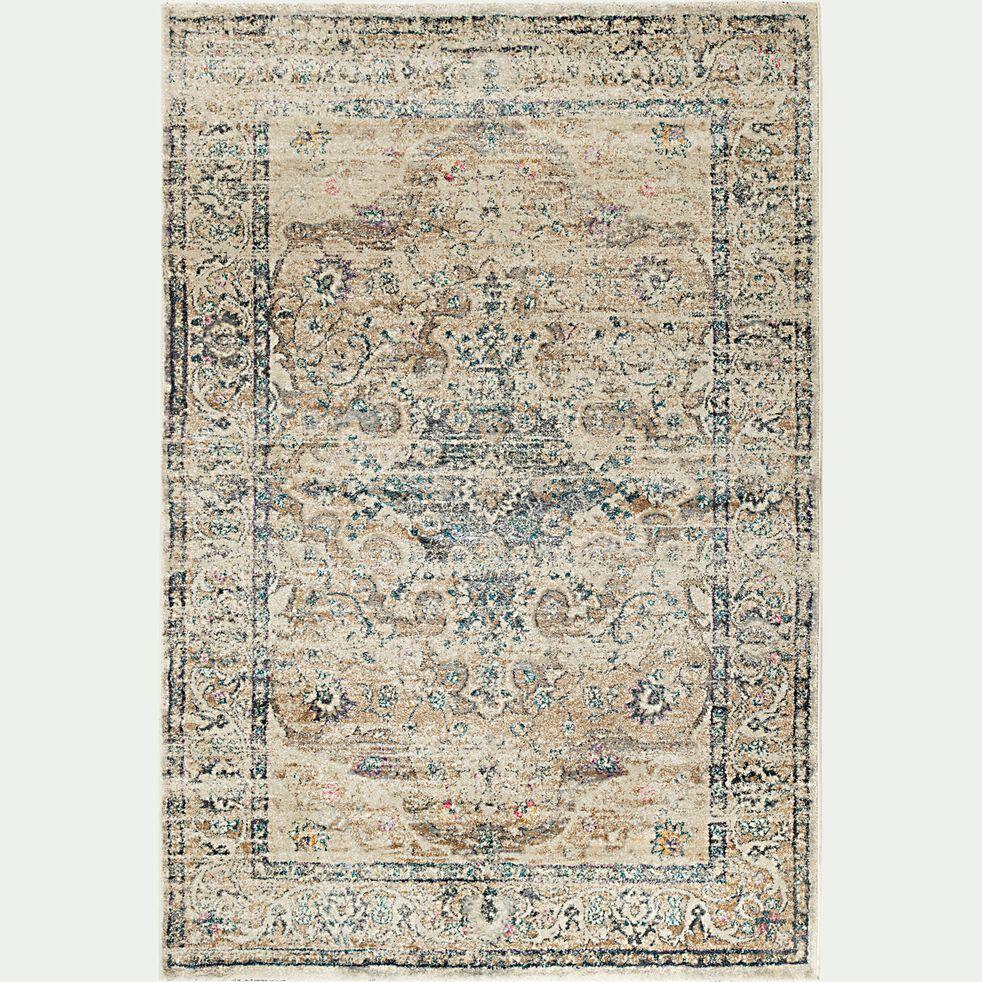 Tapis à motif oriental - marron 160x230cm-KREMAS