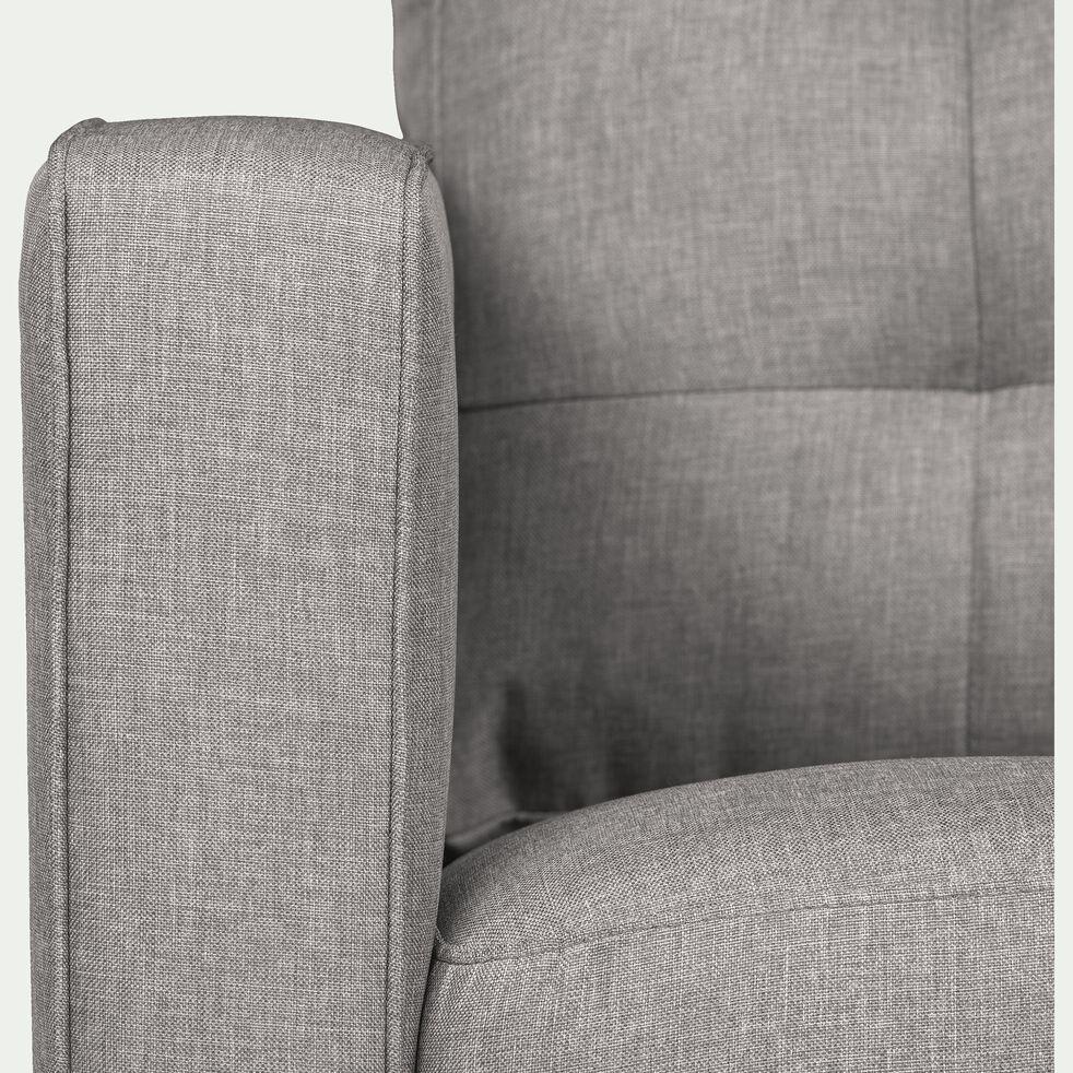 Fauteuil en tissu gris borie-ROMEO